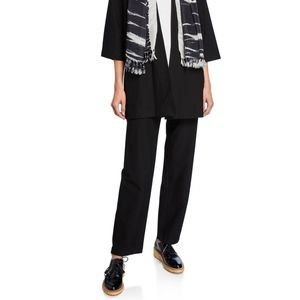 eileen fisher washable pull on pant black wide leg
